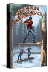 Oregon, Oregon Lumberjacks by Lantern Press