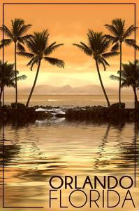 Orlando, Florida - Hammock and Palms by Lantern Press