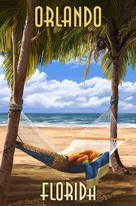 Orlando, Florida - Palms and Hammock by Lantern Press