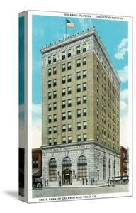 Orlando, Florida - State Bank of Orlando and Trust Co Bldg Exterior by Lantern Press