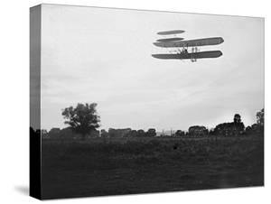 Orville Wright on Flight 41 at 60 foot high Photograph - Dayton, OH by Lantern Press