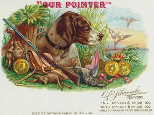 Our Pointer Brand Cigar Box Label, Hunting by Lantern Press