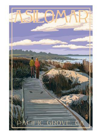 Pacific Grove, California - Asilomar Boardwalk by Lantern Press