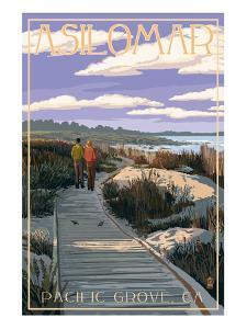 Pacific Grove, California - Asilomar Boardwalk by Lantern Press