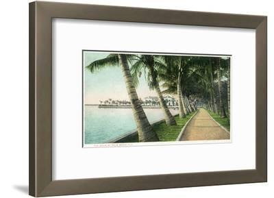 Palm Beach, Florida - View of the Walk Along Lake Worth