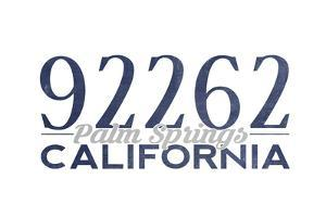 Palm Springs, California - 92262 Zip Code (Blue) by Lantern Press