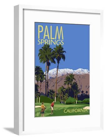 Palm Springs, California - Golfing Scene by Lantern Press
