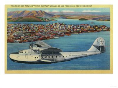 "Pan American Airways ""China Clipper"" from Orient - San Francisco, CA by Lantern Press"