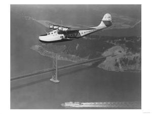 Pan American Philippine Martin Clipper Over San Francisco Photograph