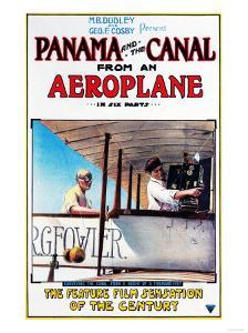 Panama - Panama and the Canal Aeroplane Movie Promo Poster by Lantern Press