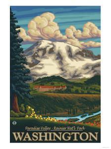 Paradise Inn, Mt. Rainier National Park, Washington by Lantern Press
