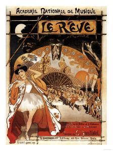 Paris, France - Le Reve Ballet Performance Opera House Promo Poster by Lantern Press