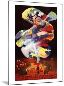 Paris, France - Loie Fuller at Folies-Bergere Theatre Promotional Poster by Lantern Press