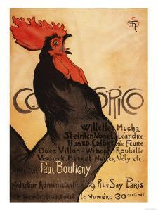 Paris, France - Periodical Cocorico Rooster Promotional Poster by Lantern Press
