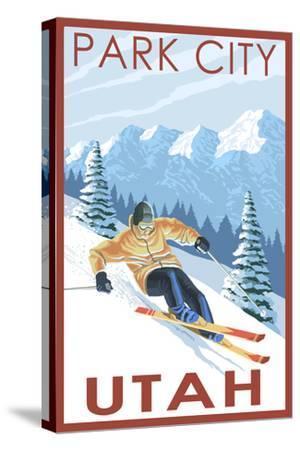 Park City, Utah - Downhill Skier