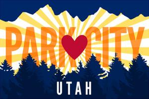 Park City, Utah - Heart and Treeline (Horizontal) - Lantern Press Artwork by Lantern Press