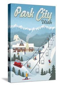 Park City, Utah - Retro Ski Resort by Lantern Press