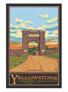 Park Entrance Arch, Yellowstone National Park, Wyoming by Lantern Press