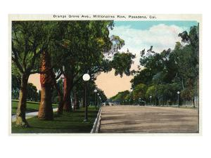 Pasadena, California - Millionaire Row, Orange Grove Avenue by Lantern Press