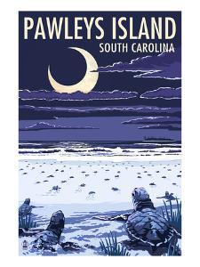 Pawleys Island, South Carolina - Baby Sea Turtles by Lantern Press