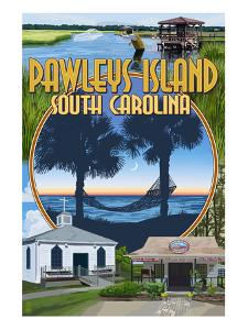 Pawleys Island, South Carolina - Montage by Lantern Press
