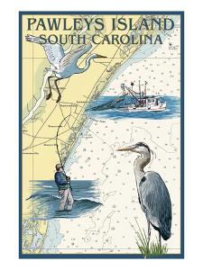 Pawleys Island, South Carolina - Nautical Chart by Lantern Press