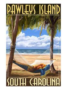 Pawleys Island, South Carolina - Palms and Hammock by Lantern Press