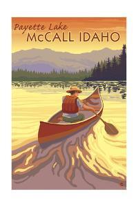 Payette Lake - McCall, Idaho - Canoe Scene by Lantern Press