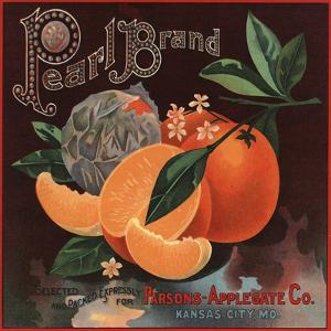 Pearl Brand - Kansas City, Missouri - Citrus Crate Label by Lantern Press
