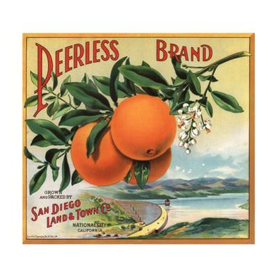 Peerless Brand - National City, California - Citrus Crate Label by Lantern Press