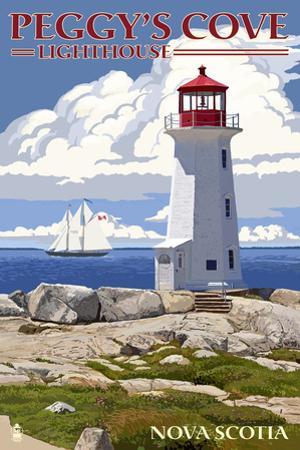 Peggy's Cove Lighthouse - Nova Scotia by Lantern Press