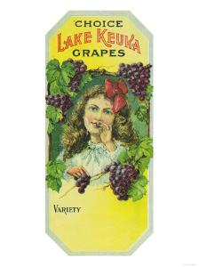 Penn Yan, New York - Variety Choice Lake Keuka Grapes Label by Lantern Press