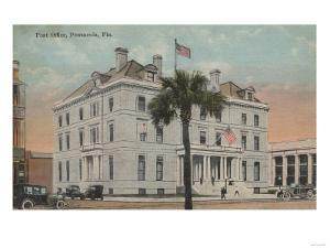 Pensacola, Florida - Exterior View of Post Office by Lantern Press