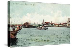 Pensacola, Florida - Harbor Scene by Lantern Press