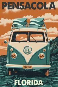 Pensacola, Florida - VW Van by Lantern Press