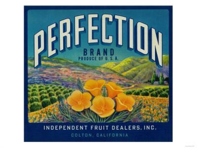 Perfection Orange Label - Colton, CA by Lantern Press
