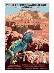 Petrified Forest National Park - Arizona by Lantern Press