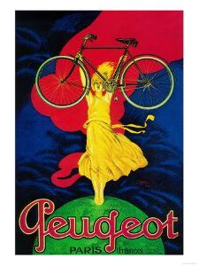 Peugeot Bicycle Vintage Poster - Europe by Lantern Press