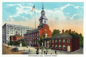 Philadelphia, Pennsylvania - Independence Hall from Chestnut Street by Lantern Press