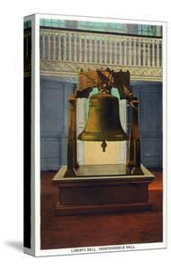 Philadelphia, Pennsylvania - Independence Hall Liberty Bell Scene by Lantern Press