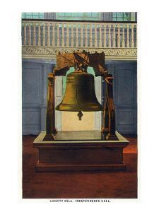 Philadelphia, Pennsylvania - Independence Hall Liberty Bell Scene by Lantern Press