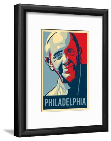 Philadelphia, Pennsylvania - Pope - Lithography Style