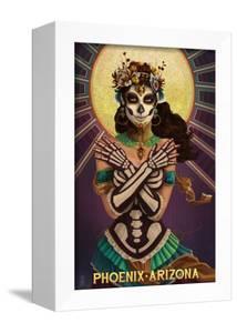 Phoenix, Arizona - Day of the Dead Crossbones by Lantern Press