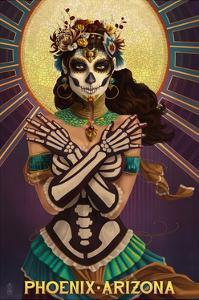 Phoenix, Arizona - Day of the Dead Crossbones by Lantern Press