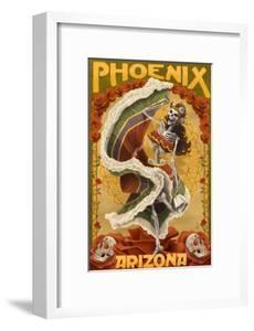 Phoenix, Arizona - Day of the Dead Dancing Skeleton by Lantern Press