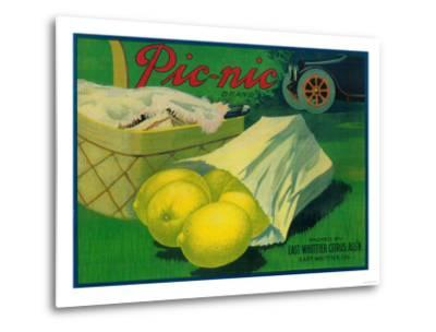 Picnic Lemon Label - Whittier, CA