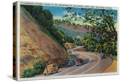 Picturesque Los Gatos Highway near Santa Cruz - Santa Cruz, CA