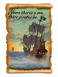 Pirate Ship on Pursuit by Lantern Press