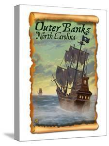 Pirate Ship - Outer Banks, North Carolina by Lantern Press