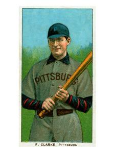 Pittsburgh, PA, Pittsburgh Pirates, F. Clark, Baseball Card by Lantern Press